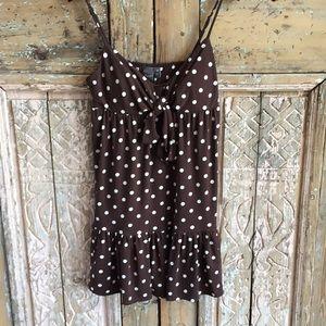 Polka dot spaghetti strap mini dress